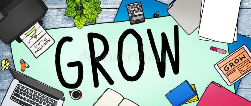 Вырастите концепция устремленности увеличения улучшения отростчатая бесплатная иллюстрация