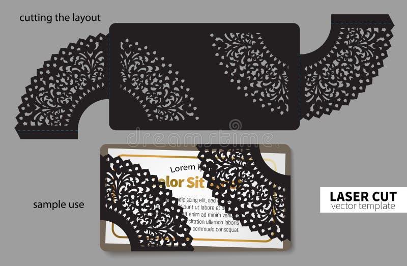 Вырезывание лазера вектора иллюстрация вектора