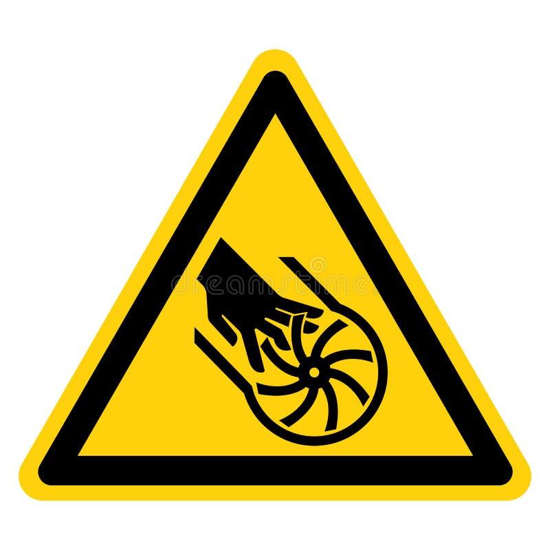 Вырезывание знака символа лопатки крыльчатки пальцев, иллюстрации вектора, изолята на белом ярлыке предпосылки EPS10 бесплатная иллюстрация