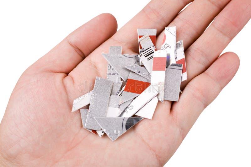 вырезывание кредита карточки стоковая фотография rf