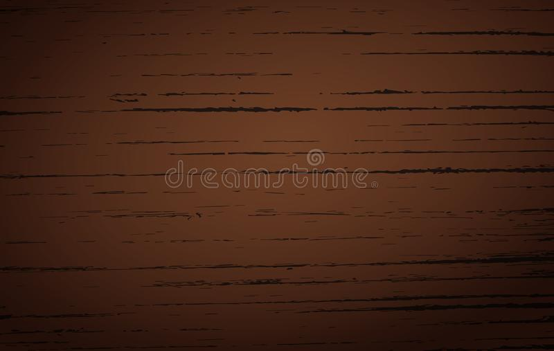 Вырезывание темного коричневого цвета деревянное, прерывая доска, таблица или поверхность пола Деревянная текстура иллюстрация вектора