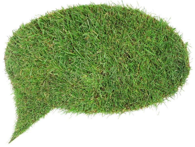 Вырез воздушного шара речи травы стоковое фото