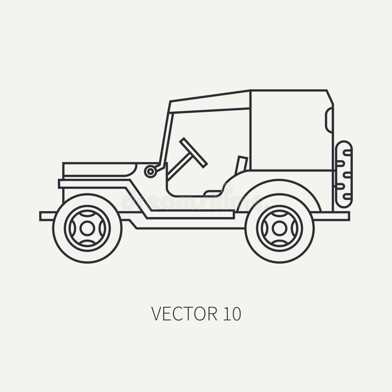 Выровняйте автомобиль армии тела брезента обслуживающего персонала значка вектора плоской равнины Военное транспортное средство С бесплатная иллюстрация