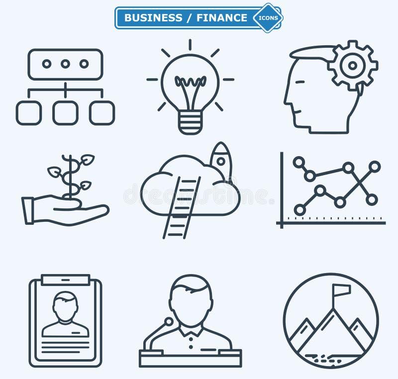 Выровняйте значки, бизнесменов в процессе работы иллюстрация штока