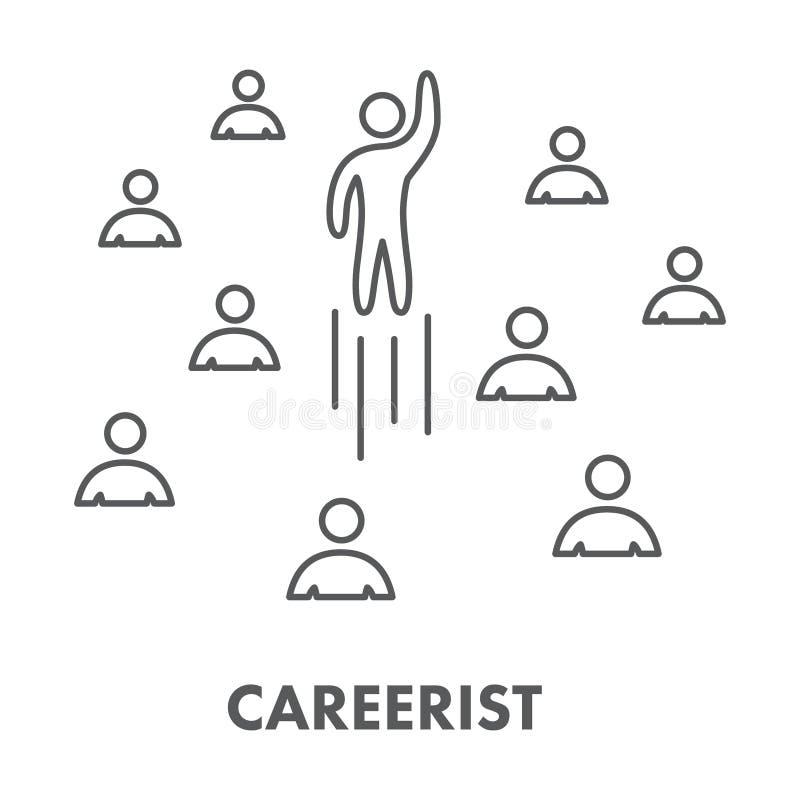 Выровняйте символ, логотип и знамя карьериста значка бесплатная иллюстрация