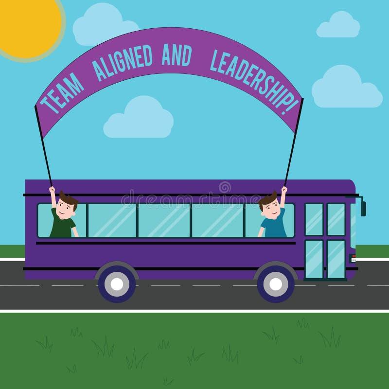 Выровнянная команда показа знака текста и руководство Союзничества работы партнерства работы трамвая схематического фото хорошие  иллюстрация штока