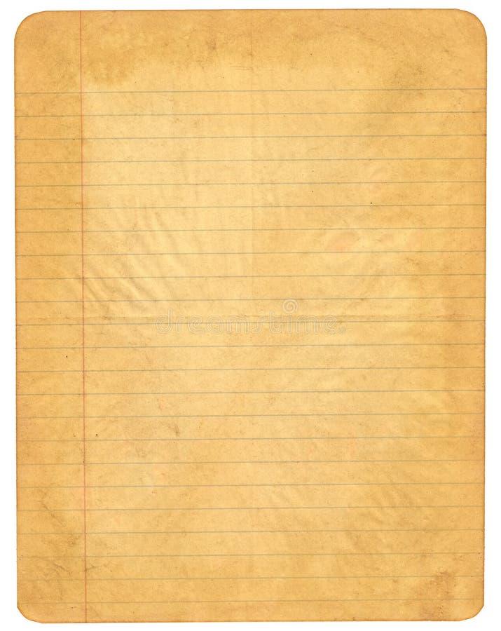выровнянная старая бумага стоковые фотографии rf