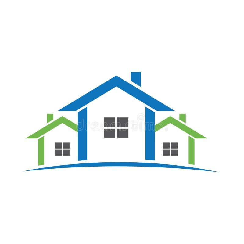 выровнянный логос домов иллюстрация вектора