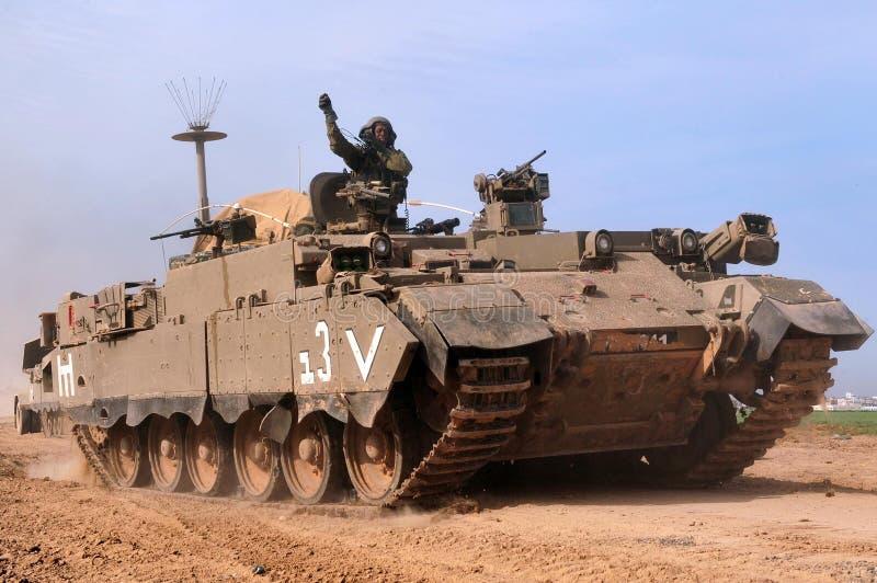 Вырывание израильских войск от Газа стоковая фотография rf