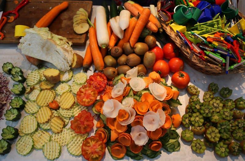 Высекаенные овощи стоковая фотография rf