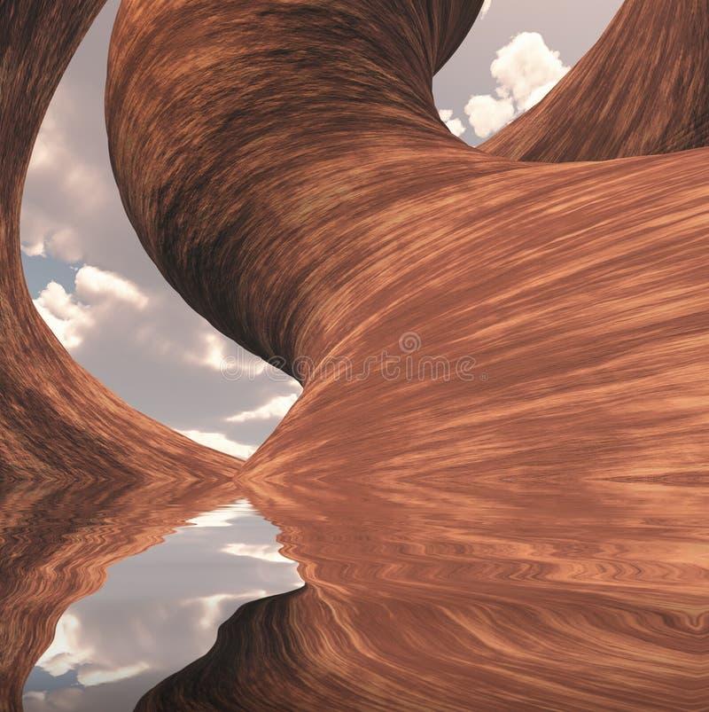 Высекаенный каньон иллюстрация вектора