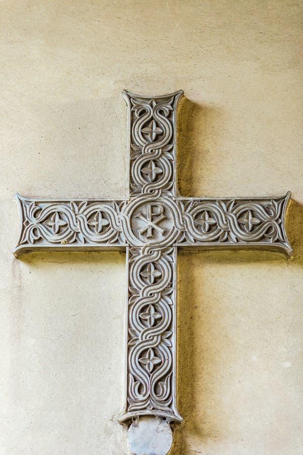 Высекаенный мраморный крест стоковые изображения