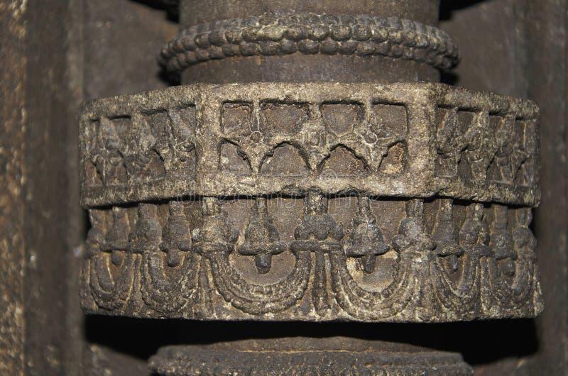 Высекаенный штендер, висок Palasdeo, около запруды Ujani, махарастра стоковые изображения rf