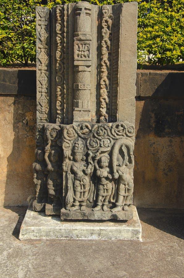 Высекаенный штендер показанный на форте, Bidar, Karnataka стоковые изображения