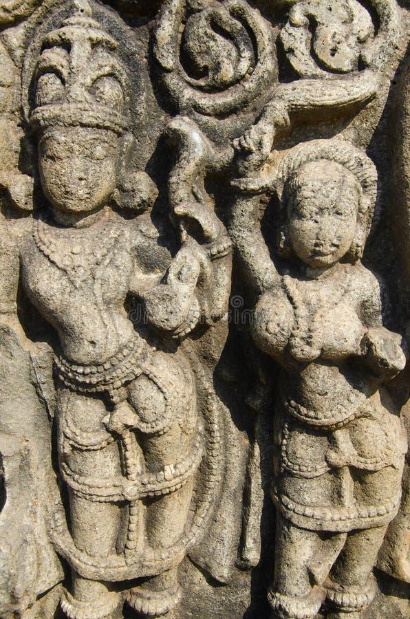 Высекаенный штендер показанный на форте, Bidar, Karnataka стоковая фотография rf