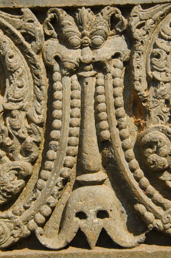 Высекаенный штендер показанный на форте, Bidar, Karnataka стоковое изображение rf