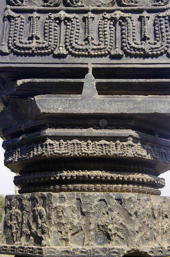 Высекаенный штендер, thoranan своды, форт Warangal, Warangal, Telangana стоковые изображения