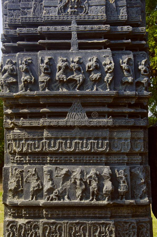 Высекаенный штендер, thoranan своды, форт Warangal, Warangal, Telangana стоковые фото