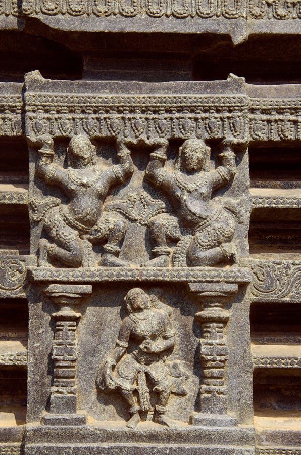 Высекаенный штендер, thoranan своды, форт Warangal, Warangal, Telangana стоковые изображения rf