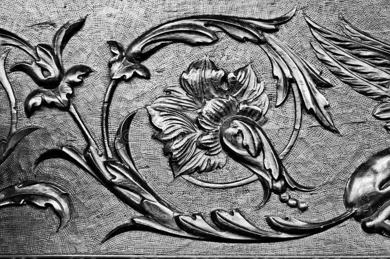 Орнамент высеканный древесиной стоковая фотография rf