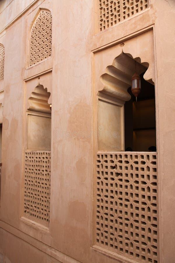 высеканный замок jabreen окна jabrin стоковое изображение