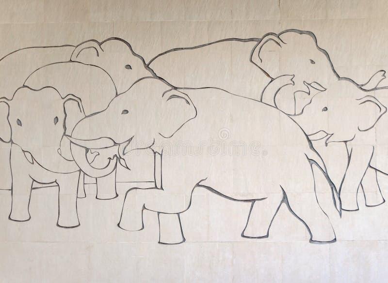 Высекать азиатского слона стоковая фотография