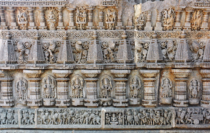 высекать висок mysore keshava стоковое изображение rf