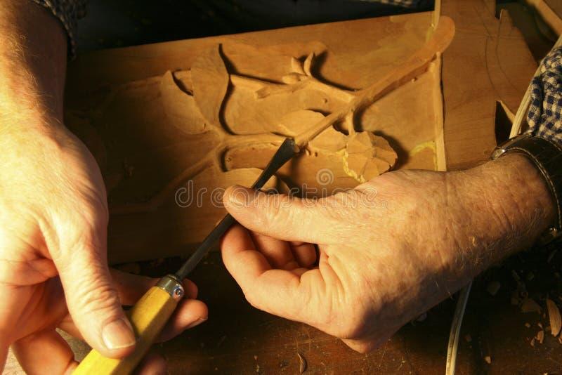 высекать древесину стоковая фотография
