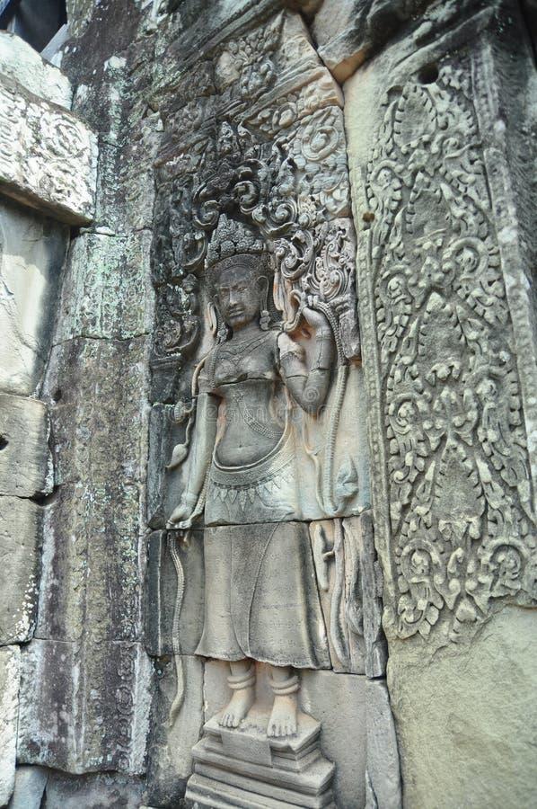 Высекать танцора Apsara стоковое изображение