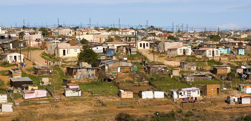 выселок Африки неофициальный южный стоковые фотографии rf