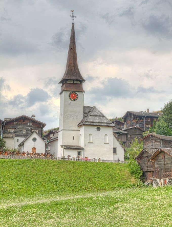 Выселок села в кантоне Valais стоковое изображение rf