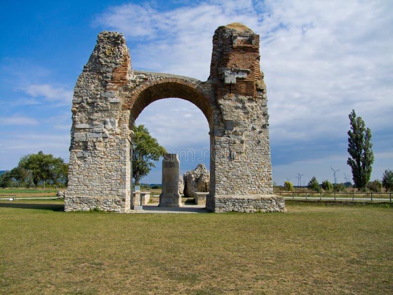 выселок стародедовского carnuntum языческий римский стоковая фотография rf