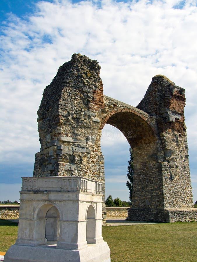 выселок стародедовского carnuntum языческий римский стоковое фото