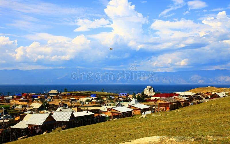 выселок olkhon озера khuzhir острова baikal стоковая фотография rf