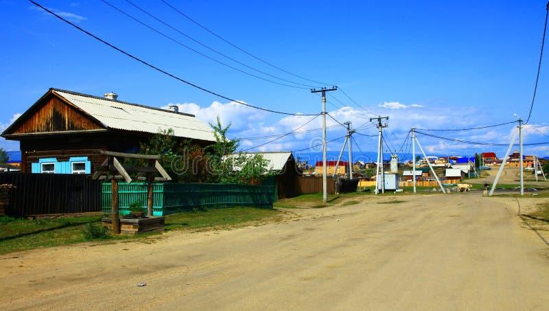 выселок olkhon озера khuzhir острова baikal стоковые фото