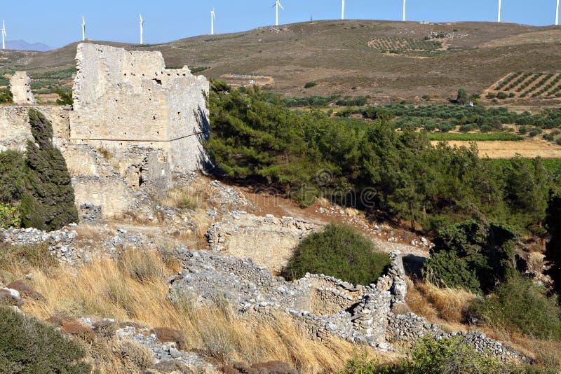 Выселок Voila средневековый на острове Крита стоковая фотография