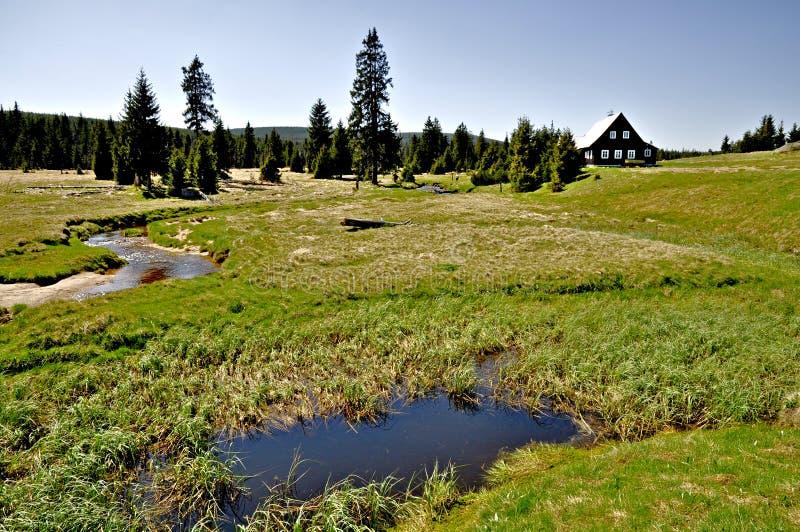 Выселок Jizerka стоковое фото rf