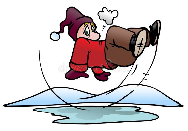выскальзование бассеина льда бесплатная иллюстрация
