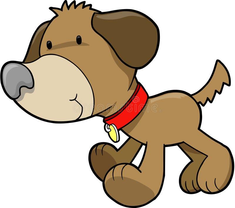 выследите вектор щенка иллюстрация вектора