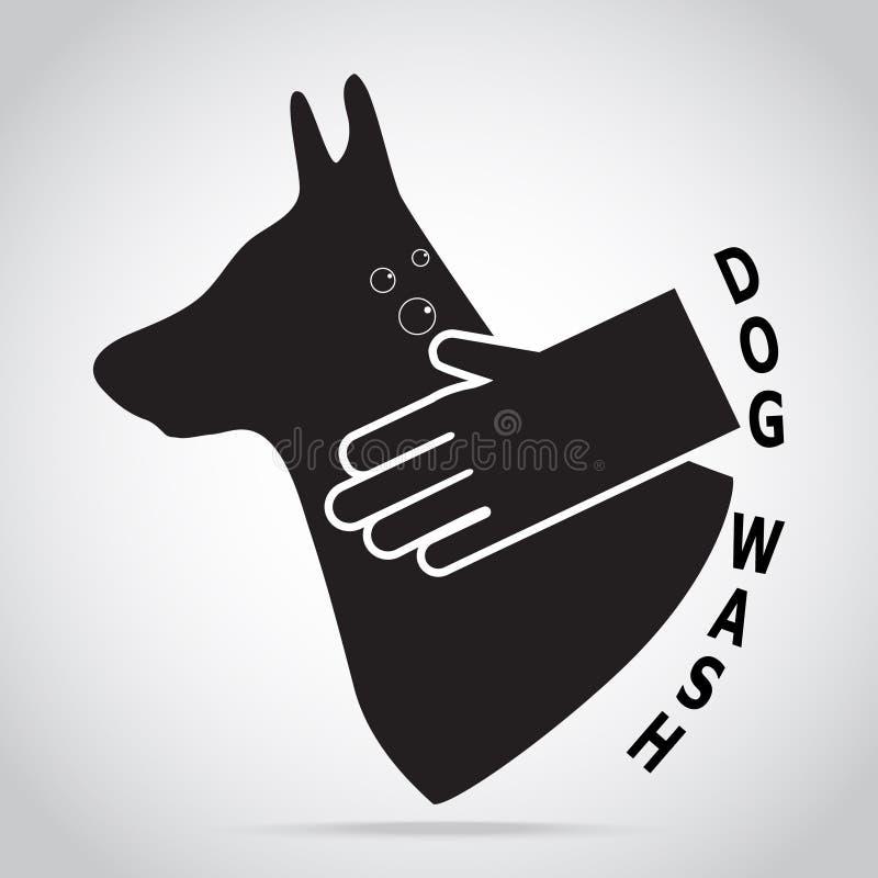 Выследите любимчика холя, концепцию мытья заботы собаки бесплатная иллюстрация