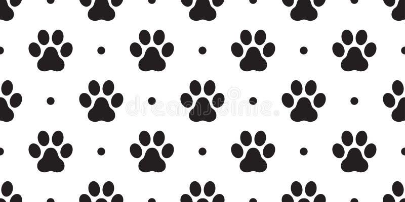 Выследите фон предпосылки обоев точки польки лапки кота вектора картины лапки безшовным изолированный следом ноги иллюстрация вектора