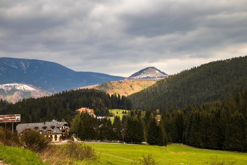 Высокая гора Tatry в Польше внутри может стоковая фотография rf