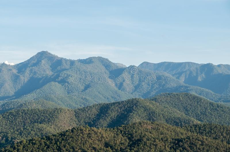 Высокая горная цепь национального парка стоковая фотография rf