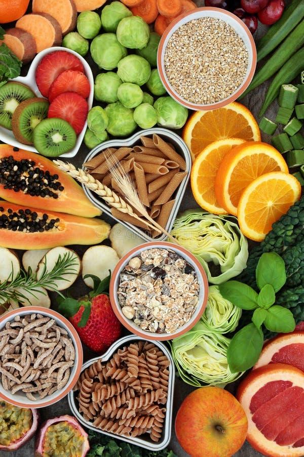 Высокая диетическая здоровая еда волокна стоковые изображения