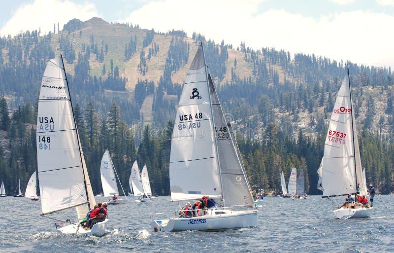 высокая Сьерра regatta в процессе стоковое фото