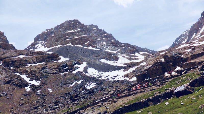 Высокие горы атласа, Марокко стоковое изображение