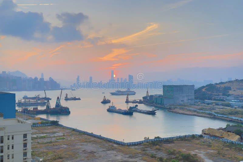 высокие жилые кварталы подъема как увидено от схвата Yau стоковое изображение