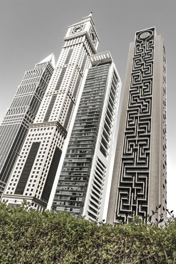 Высокие, современные здания в центре Дубай, залива дела, ОАЭ, июня 2018 стоковые изображения