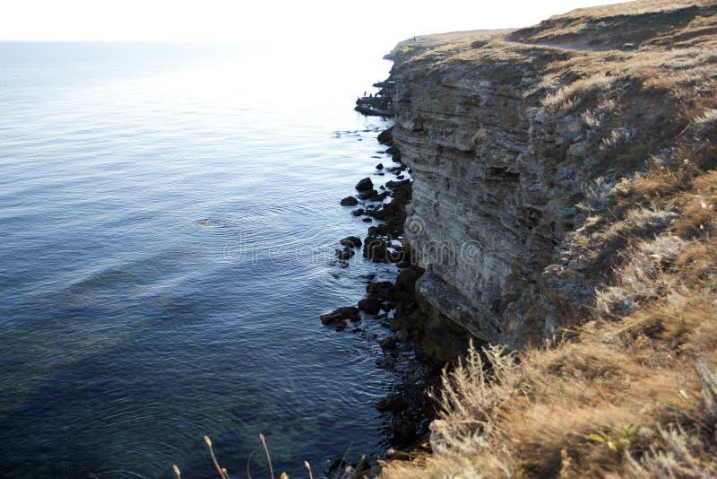 Высокие утесы ashore стоковое фото