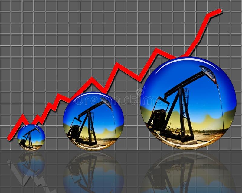 Высокие цены на нефть. бесплатная иллюстрация